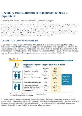 Il welfare sussidiario: un vantaggio per aziende e dipendenti