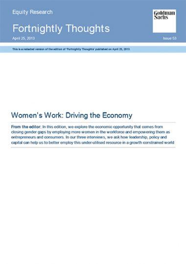 Women's work: driving the economy