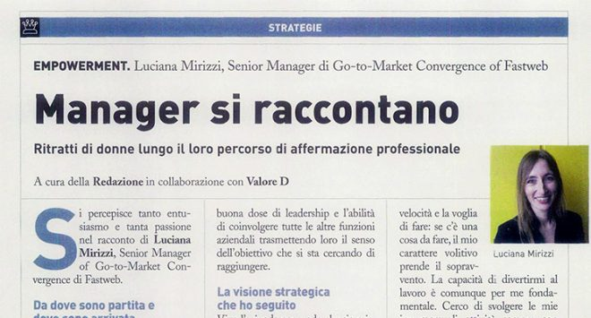 Middle manager si raccontano: Luciana Mirizzi di Go-to-Market Convergence of Fastweb