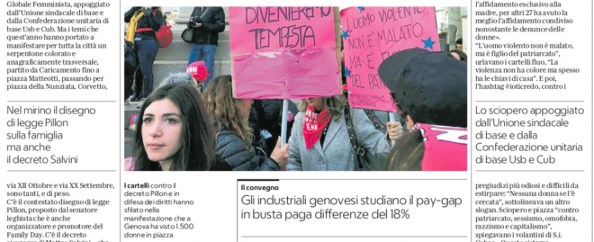 Gli industriali genovesi studiano il pay-gap in busta paga differenze del 18%