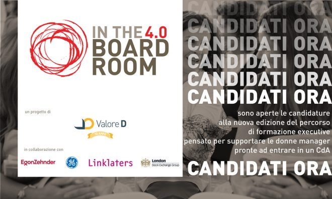 Aperte le candidature per InTheBoardroom 4.0