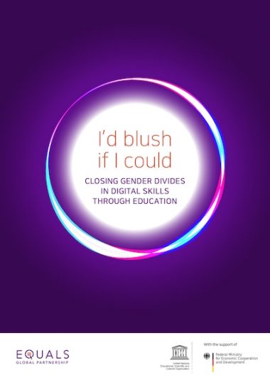 I'd Blush If I Could – Closing Gender Divides in Digital Skills Education