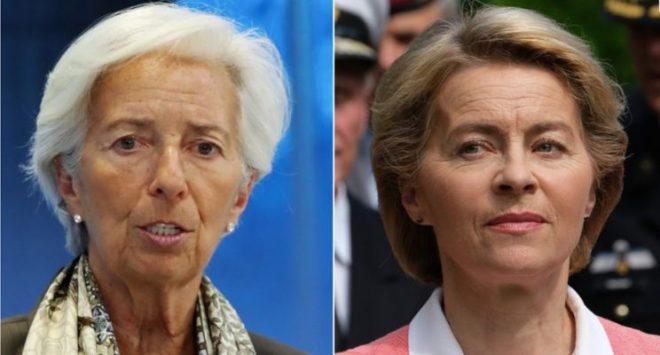 Due donne ai vertici comunitari: Lagarde alla Bce e Von der Leyen alla Commissione