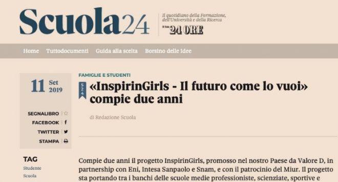 «InspirinGirls – Il futuro come lo vuoi» compie due anni