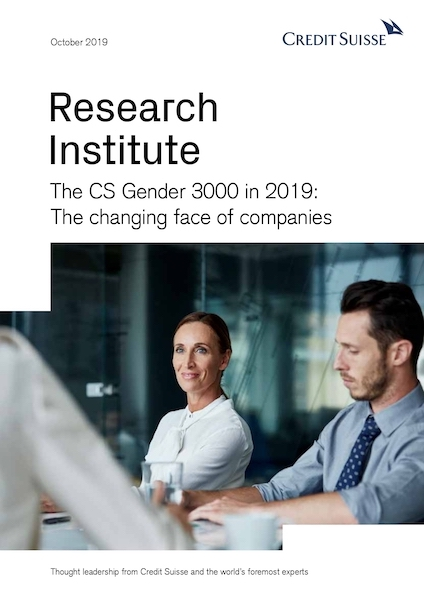 The CS Gender 3000 in 2019: the changing face of companies