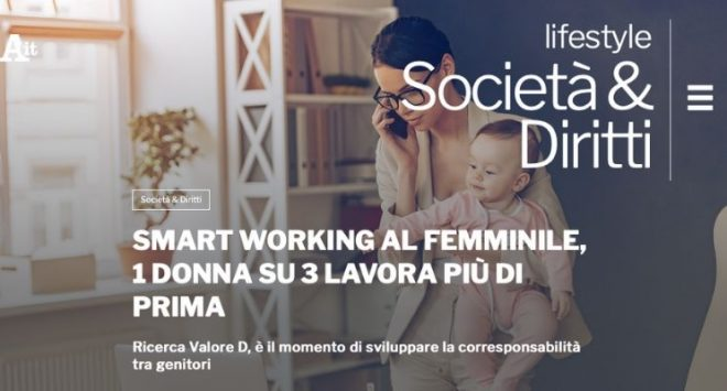 Smart working al femminile, 1 donna su 3 lavora più di prima