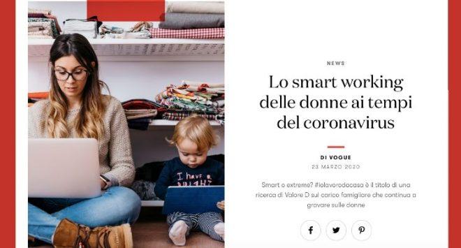 Lo smart working delle donne ai tempi del coronavirus