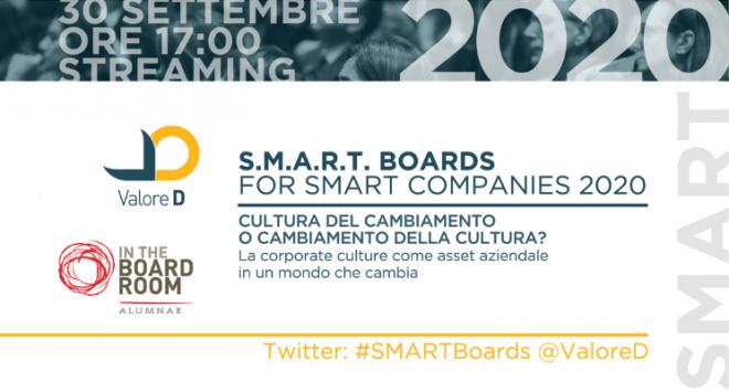 Cultura del cambiamento o cambiamento della cultura? Torna l'evento S.M.A.R.T. Boards for smart companies